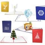 Traditional Christmas 5 pack pop up card - thumbnail