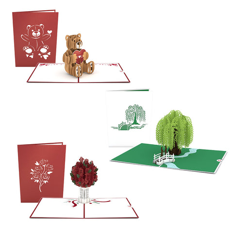 Valentine's Essential 3 Pack greeting card -  Lovepop