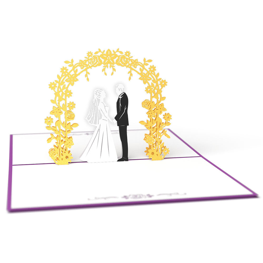 wedding day 3d pop up card lovepop