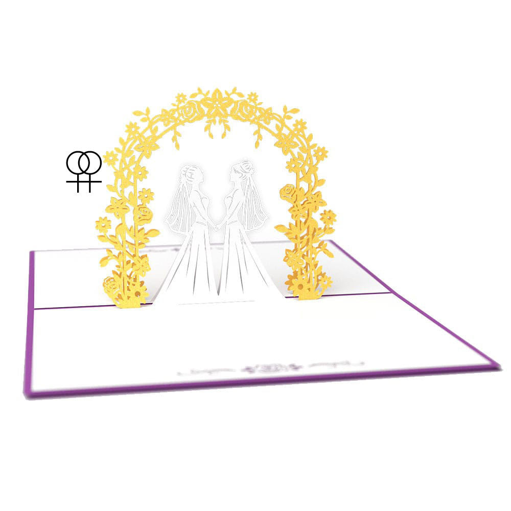 Wedding Day Brides pop up card