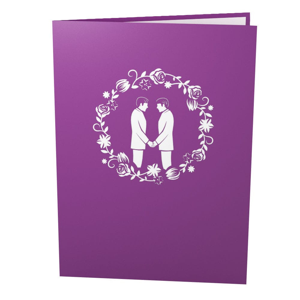 Wedding Day Grooms pop up card