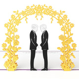 Wedding Day Grooms pop up card - thumbnail
