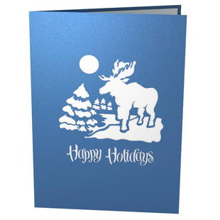 Winter Cabin Snowman Pop Up Christmas Card