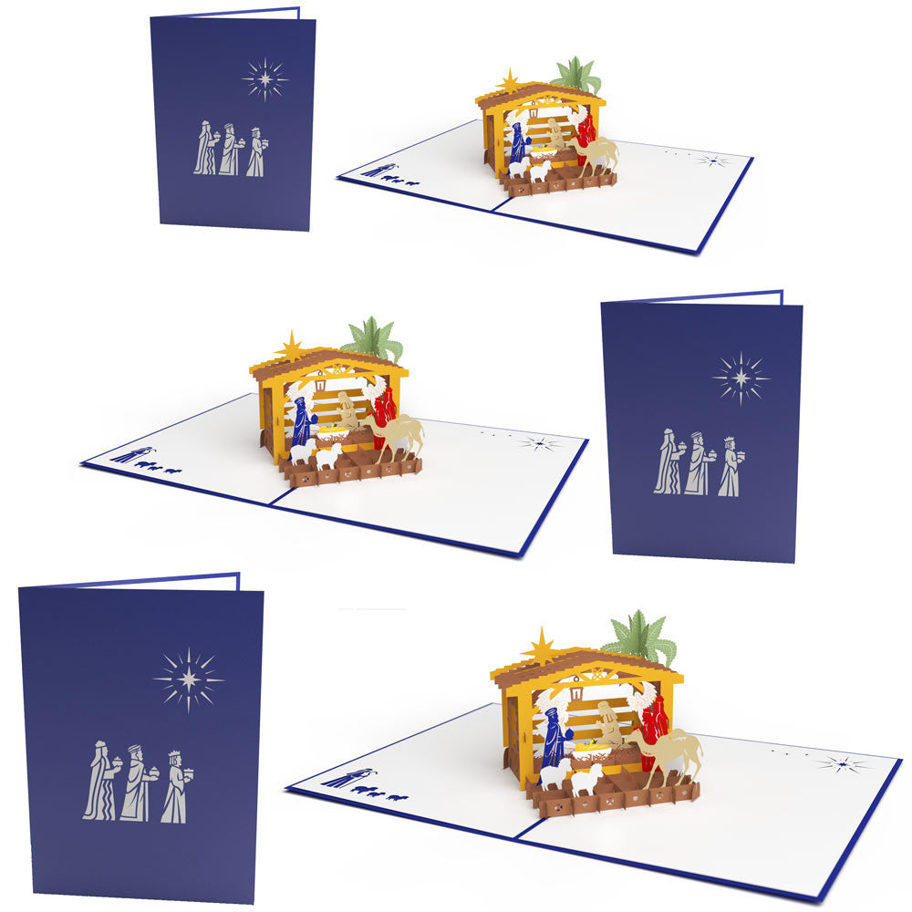 Three Wise men pack pop up card