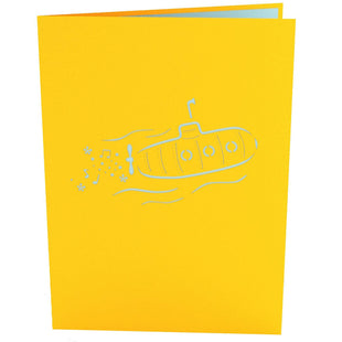 Yellow Submarine Pop Up Birthday Card