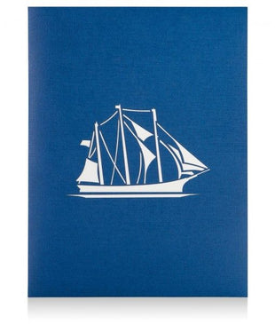 Clipper Ship Pop Up Birthday Card