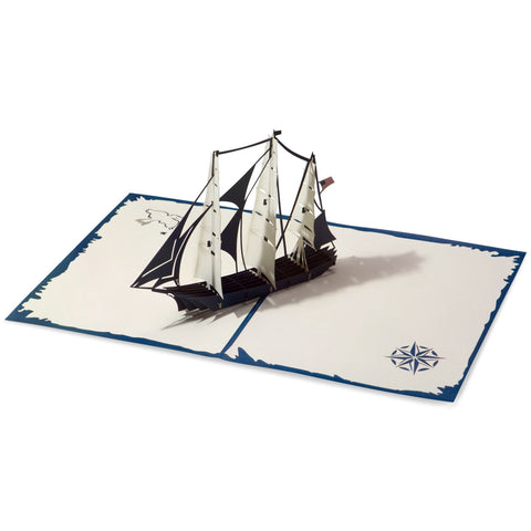 Clipper Ship Pop Up Birthday Card greeting card -  Lovepop