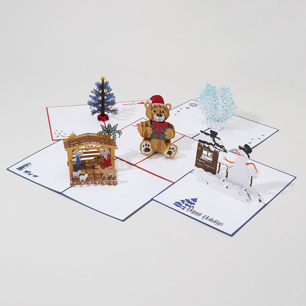 Holiday Lovepop 5-pack pop up card