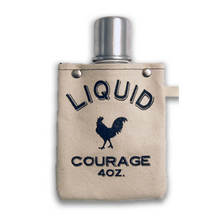 Load image into Gallery viewer, tote+able Canvas Flask - Liquid Courage
