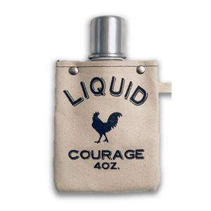 tote+able Canvas Flask - Liquid Courage