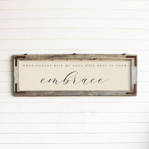 "Brayden & Brooks Vintage Framed Sign - ""When Oceans Rise"" in Raw"