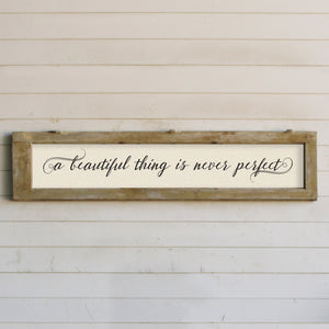 "Brayden & Brooks Vintage Framed Sign - ""A Beautiful Thing"" in Patina"