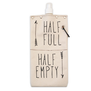 tote+able Canvas Canteen - Half Full / Half Empty