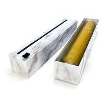 Load image into Gallery viewer, ChicWrap Plastic Wrap Dispenser - Carrara Marble