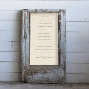 "Brayden & Brooks Vintage Framed Sign - ""Life is Amazing"" in Patina I"