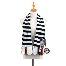 Load image into Gallery viewer, Mommy & Me Activity Scarf - Black & White