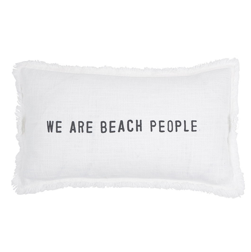 We Are Beach People Rectangular Pillow