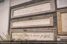 "Load and play video in Gallery viewer, Brayden & Brooks Vintage Framed Sign - ""A Beautiful Thing"" in White Wash"