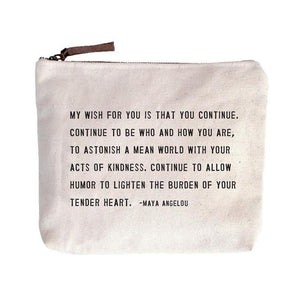 Canvas Zip Bag - My Wish for You