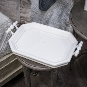 Bramble Victorian Octagonal Tray - Architectural White