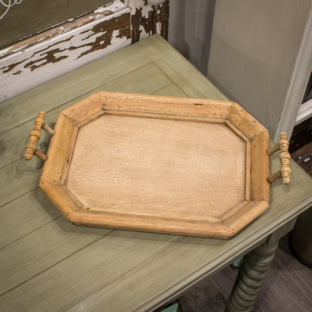 Bramble Victorian Octagonal Tray - Rubber Natural