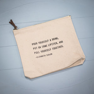 Canvas Zip Bag - Pull Yourself Together