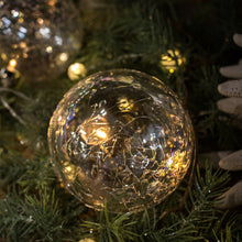 Load image into Gallery viewer, Crackle Ball Ornament LED String Lights