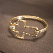 Load image into Gallery viewer, Cross Bracelet - Gold Toned