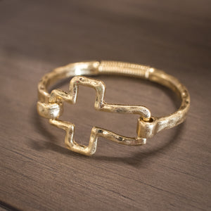 Cross Bracelet - Gold Toned
