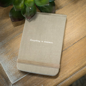 "Fabric Notebook - ""Everything is Possible"""