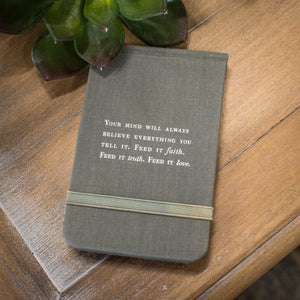"Fabric Notebook - ""Faith Truth Love"""