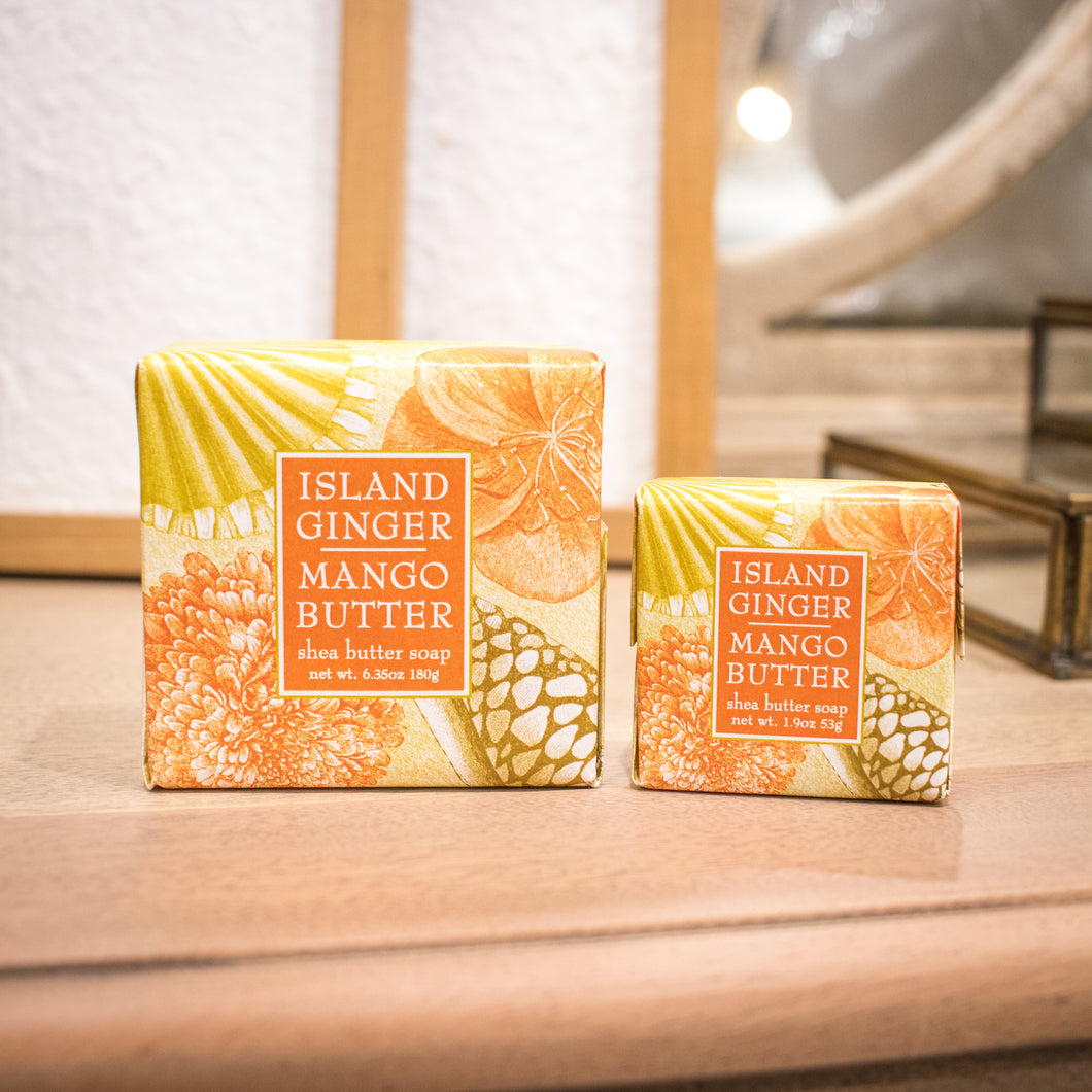 Greenwich Bay Shea Butter Soap - Island Ginger Mango Butter