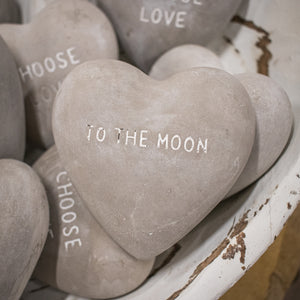 Heart Shaped Stone - To the Moon