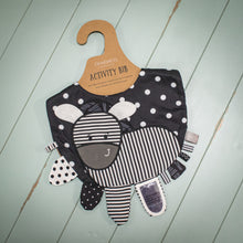 Load image into Gallery viewer, Mommy & Me Activity Bib - Zebra