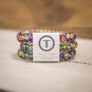 TELETIES Small Hair Ties - Psychedelic (3 Pack)