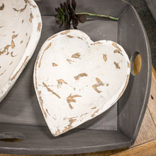 Load image into Gallery viewer, Wooden Heart Bowl - White
