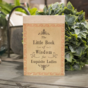 """The Little Book of Wisdom for Exquisite Ladies"" Booklet"
