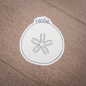 Grasshopper's Mermaid Sticker - niche. Sand Dollar