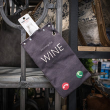 Load image into Gallery viewer, tote+able Canvas Canteen - Incoming Call: Wine