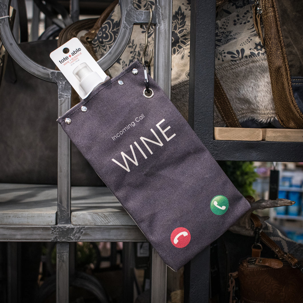 tote+able Canvas Canteen - Incoming Call: Wine