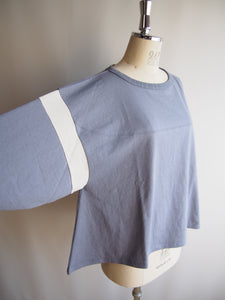 "kha:ki ""LINE SLEEVE WIDE TOP"""