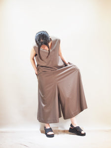 "kha:ki ""STRECH JUMP SUITS BROWN"""