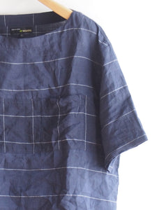 "MOJITO ""WITH BUMBY T リネンボートネックシャツ  NAVY"""