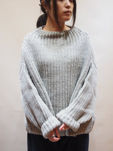 "KERRY WOOLLEN MILLS ""Womens ボトルネックセーター GREY"""
