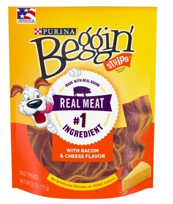 Beggin Strips with Bacon and Cheese