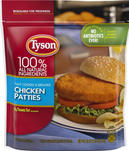 Load image into Gallery viewer, Tyson Chicken Patties
