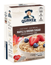 Load image into Gallery viewer, Quaker Maple & Brown Sugar Instant Oatmeal
