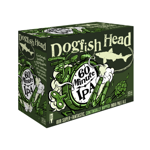 Dogfish Head 60 Minute 12 Pack IPA Beer
