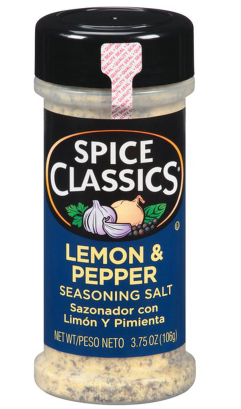 Spice Classics Lemon and Pepper Seasoning Salt