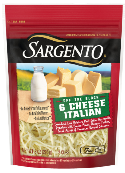 Sargento Off The Block 6 Cheese Italian Fine Cut